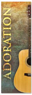 Guitar design Church Worship banner - Adoration