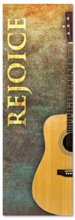 Church Worship banner - Rejoice with Guitar