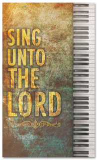 Christian Worship banner - Sing unto the LORD with Piano