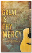 Christian Worship banner - Great is thy mercy Guitar
