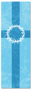 2x6 Patterned Church banner - blueStriped Crown of Thorns
