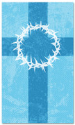 3x5 Patterned Church banner - blue Striped Crown of Thorns
