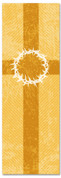Gold Striped Crown of Thorns patterned Church banner 2x6
