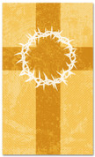 3x5 Patterned Church banner - Gold Striped Crown of Thorns
