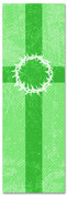 2x6 Patterned Church banner - Green Striped Crown of Thorns
