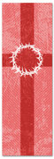 2x6 Patterned Church banner - Red Striped Crown of Thorns