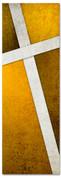 Gold Cross Stitch 2x6 Christian church banner pattern