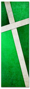 Green Cross Stitch 2x6 Christian church banner pattern