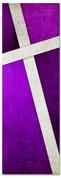 Purple Cross Stitch 2x6 Christian church banner pattern