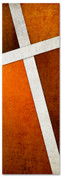 Rust Cross Stitch 2x6 Christian church banner pattern