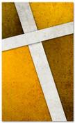 Gold Cross Stitch church banner pattern