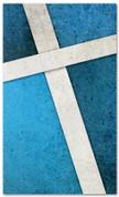 Blue Cross Stitch church banner pattern