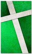 Green Cross Stitch church banner pattern