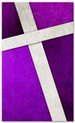 Purple Cross Stitch church banner pattern