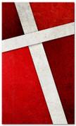 Red Cross Stitch church banner pattern