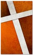 Rust Cross Stitch church banner pattern