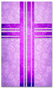 Purple Victorian Floral pattern christian church banner