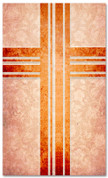 Rust Victorian Floral pattern christian church banner