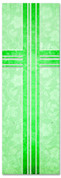 Green - Victorian Floral pattern Church banner