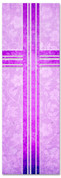 Purple Victorian Floral patterned Church banner