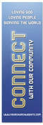 Christian church Connection banner - Blue