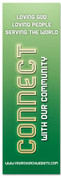 Church Connection banner - Green