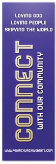 Church Connection banner - Purple