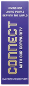 Church Connection banner - Purple