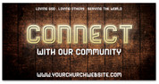 4x8 Church announcement banner - Connect with our Community