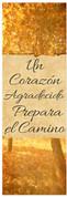 Grateful heart - Spanish banner for church at Thanksgiving