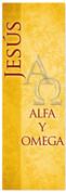 Alfa y omega - Spanish church banner