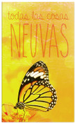 Spanish New Years Church banner with butterfly