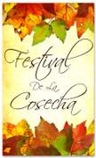 Fall Harvest Festival church banner in Spanish - Festival De La Cosecha