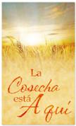 Harvest is here - Thanksgiving Spanish church banner