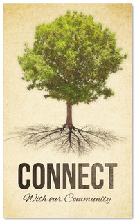Church connection banner with tree