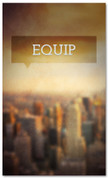 Equip - church connection banner with city background