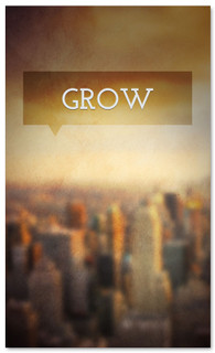 Grow church connection banner - city background