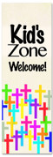 Kid's Zone Welcome banner - children's ministry supplies