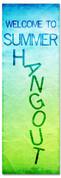 Church Summer hangout banner for Children's ministry
