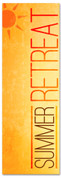 Summer retreat Children's ministry church banner