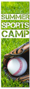 Church Children's ministry banner for summer baseball camp