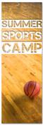 Children ministry church banner summer sports basketball camp