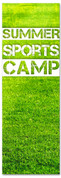 Children's ministry banner summer field sports camp