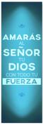 azul Spanish church banner - Amaras al senor tu dios con todo tu fuerza