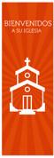 Spanish church banner - Bienvenidos a su iglesia en naranja