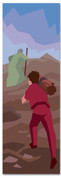 Kids' Bible Story banner of Abraham and Isaac going to the altar