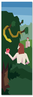 Kids' Bible Story banner of when Adam and Eve Sinned