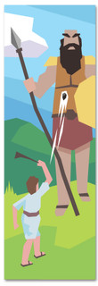 David and Goliath Kids' Bible Story banner