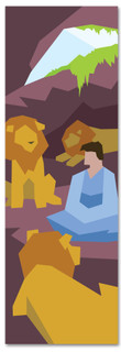 Kids' Bible Story banner of Daniel and the Lion's Den