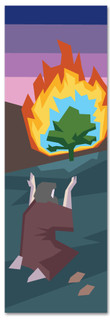 Children's church banner of the Story Of Moses & the Burning Bush